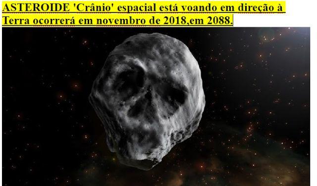 curiosidades ocultas: ASTEROIDE 'Crânio' espacial está voando em direção...