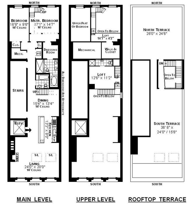 12 best planos de lofts images on pinterest small for Reading blueprints 101