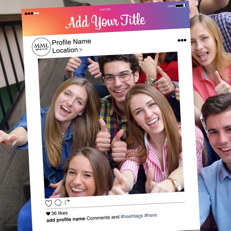 New Style Instagram Frame added to Millennial Mom Life. Let us know how to customize your next photobooth prop.
