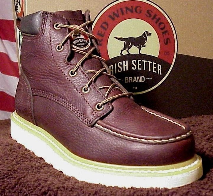 New Irish Setter by Red Wing Boots Work Wedge Sole Iron Worker 83605