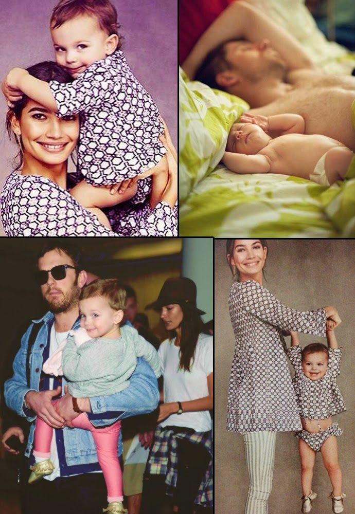 Caleb Followill, Lily Aldridge and Dixie Pearl. omg I'm dead.