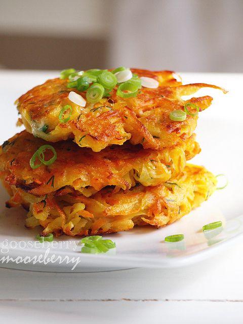 sweet potato/ potato cakes