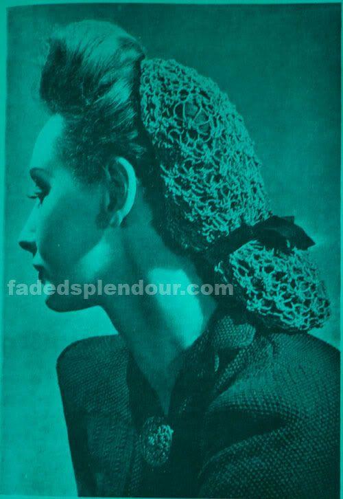 Сетки для волос в стиле 1940х (hair shoods) - cream and sugar