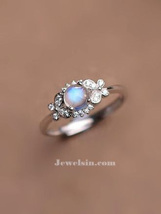 dazzling butterfly deco blue moonstone silver promise ring for her  http://www.jewelsin.com/p-classic-brilliant-natural-round-blue-moonstone-dainty-women-ring-in-sterling-silver-1232