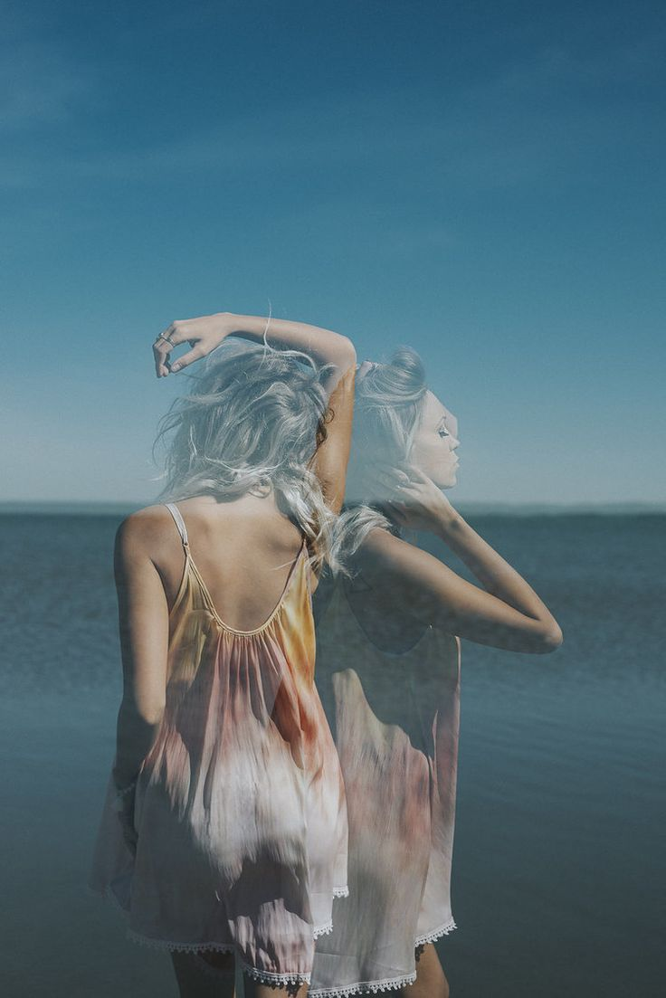 Finders Keep Hers Boutique Dress (Free People ), Free people slip, fpme, double exposure, portrait photography, beach photoshoot inspiration