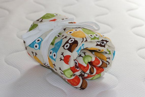 Baby Changing Mat  Bright owls on cream by raenne on Etsy, $30.00