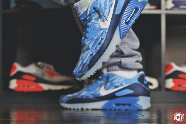 Ice Blue '90 Air Max : Ward 1 Design | Nike air max 2012, Nike air ...