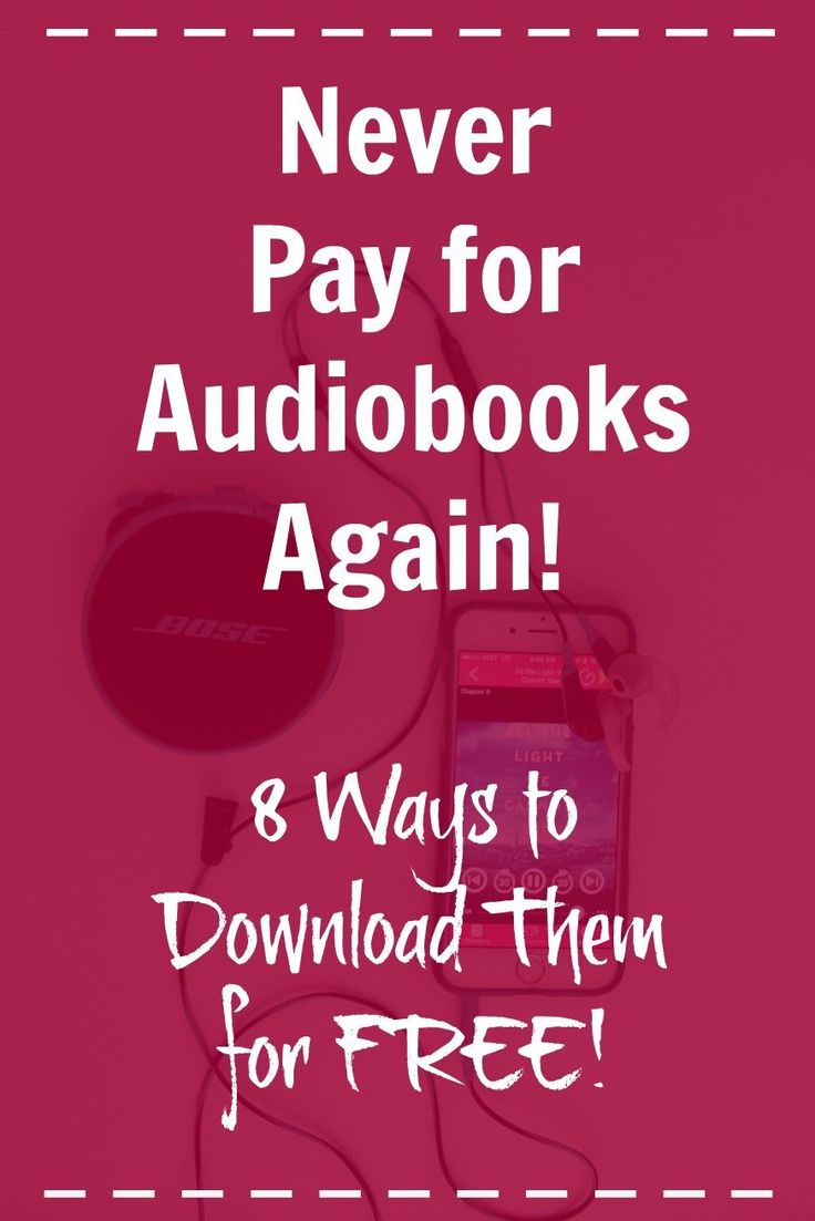 Did you know this?? You can get almost any audiobook you want -- for FREE! Click through for all the details. This will save SO much money! Goodbye, Audible!