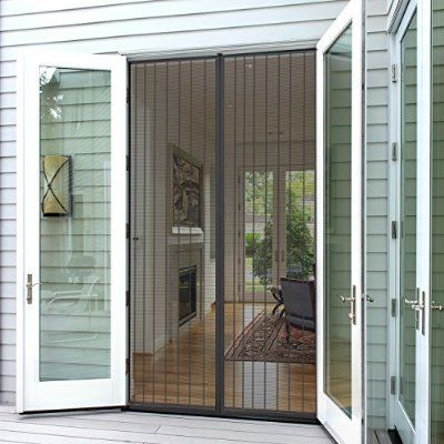 "Planet Homeware Magnetic Screen Door - Premium Full Frame Velcro Mesh - Heavy Duty Mosquito & Bug Net Curtain - For Patio, Garage and All Uses - Fits up to 35"" X 82"""