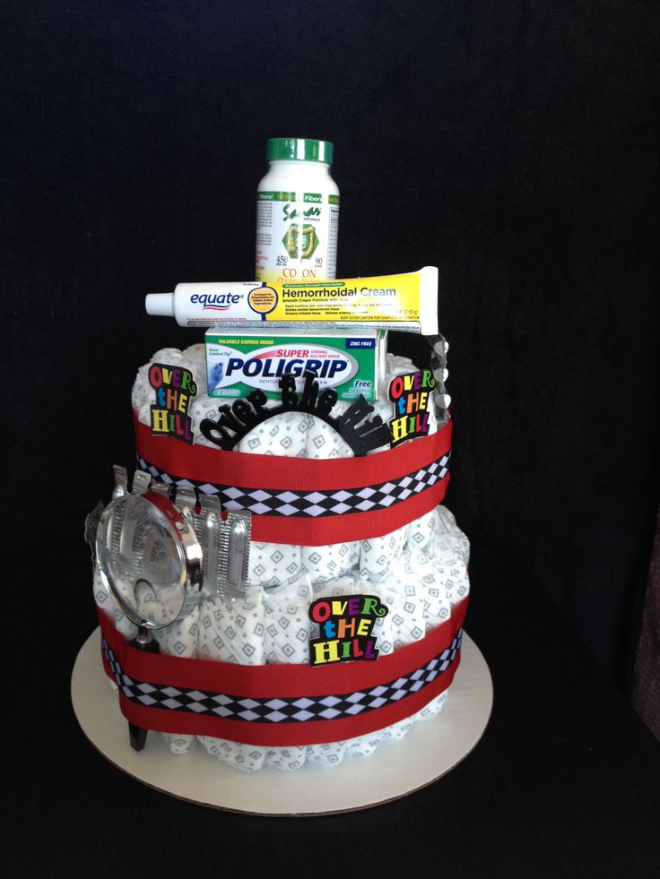Over The Hill Diaper Cake 120 Made Out Of Depends For