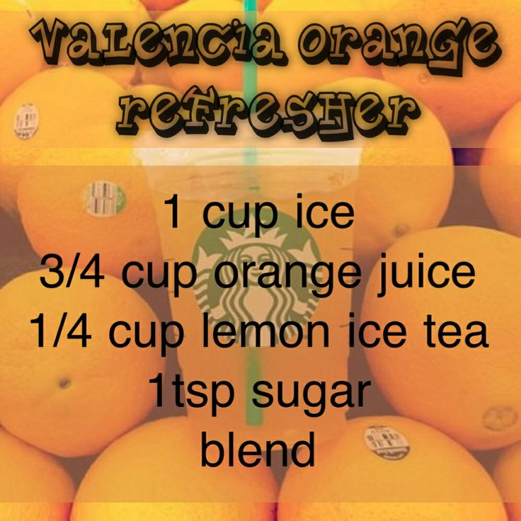 Starbucks Valencia Orange Refresher recipe!