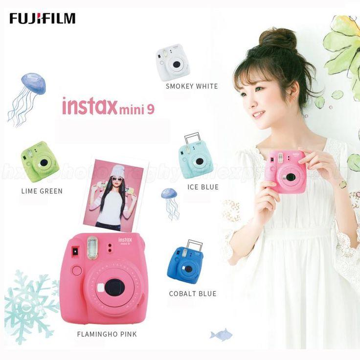 Wallmart.win Genuine Fuji Fujifilm Instax Mini 9 Instant Camera, Five Colors, Accepts Fujifilm instax Mini Instant Film