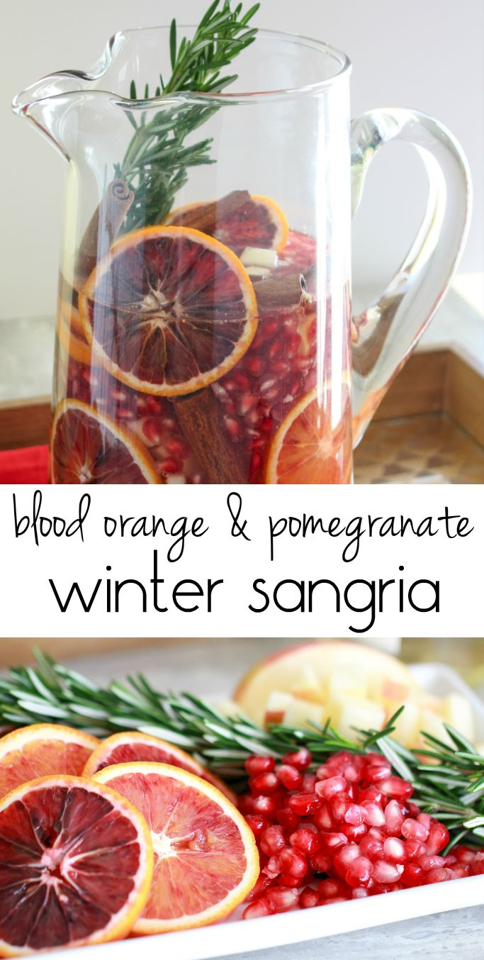 Blood Orange & Pomegranate Sangria from the Ruby Kitchen