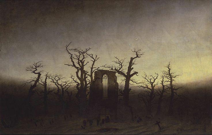 Caspar David Friedrich - The Abbey in The Oakwood