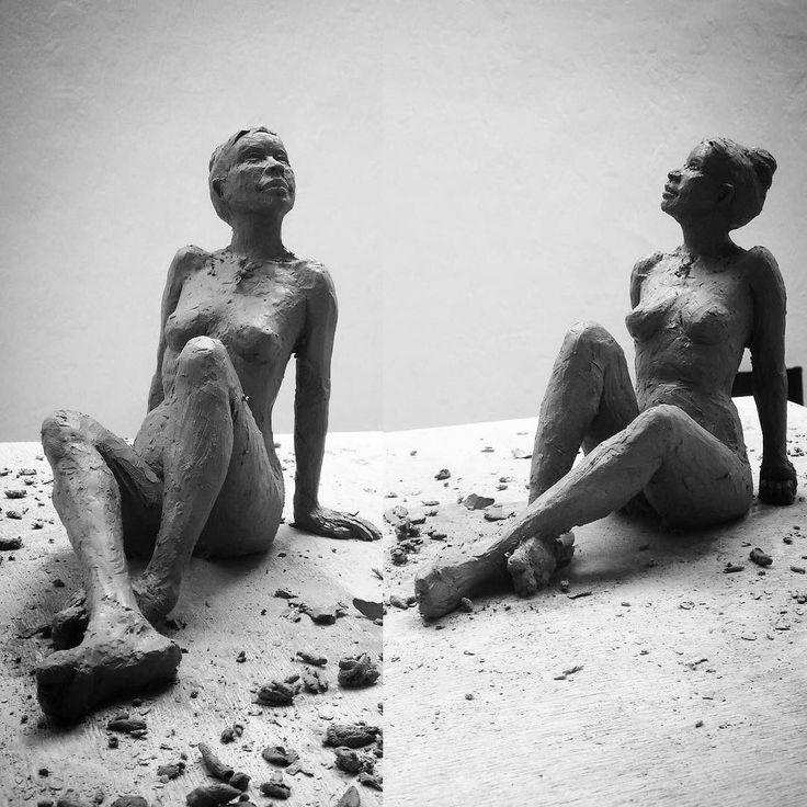 #livemodel #clay #workshop #ecolenationaledesbeauxarts #Paris #sculpture #gaud