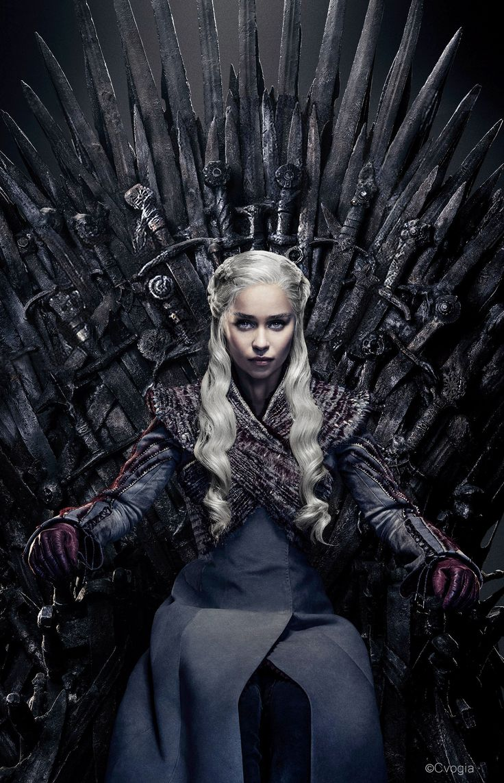 Daenerys Targaryen on the Iron Throne_CVogia Edit | Game ...