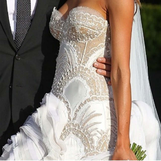 J 39 aton couture wedding dress i dream in white and gold for J aton wedding dress