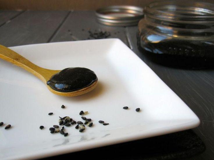 Homemade Japanese Black Sesame Paste is Easy to Make