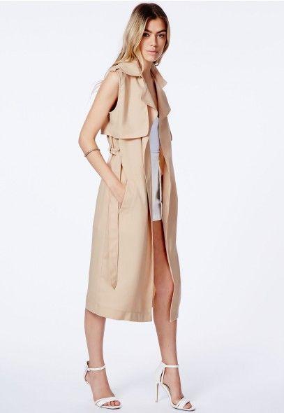 Arabela Sleeveless Lightweight Trench Coat - Coats & Jackets - Missguided