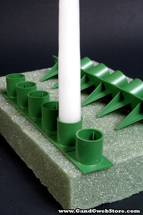 1'' HANDY HOLD POINT CANDLE HOLDERS GREEN PKG/36                              …