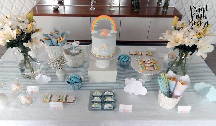 Cloud cake by Pretty in Sugar |Mesa Decorada por Print Pink Design