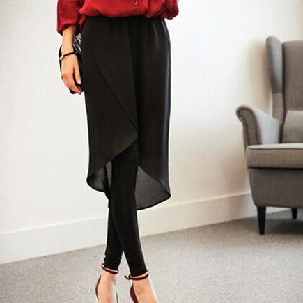 2016 Trendy Spring Women Pencil Pants Fashion Women Black Pants European Casual Brocade Culottes Plus Sizes BZ853210