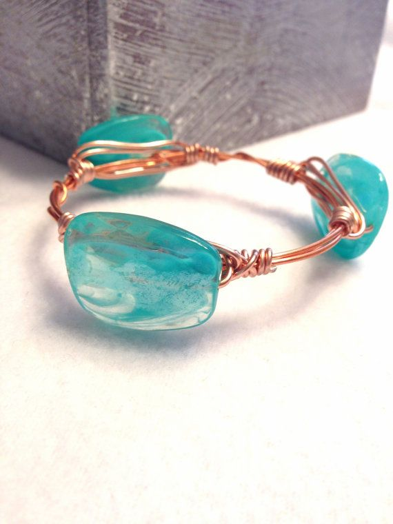 Wire Wrapped Bracelet  Wire Wrapped Bangle  Stacking by Barysto
