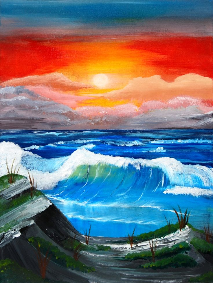 Easy Beach Sunset Paintings Two day beach limited edition ... Easy Beach Sunset Paintings