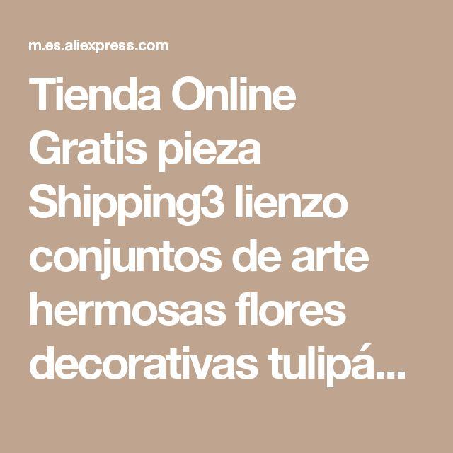 Tienda Online Gratis pieza Shipping3 lienzo conjuntos de arte hermosas flores decorativas tulipán abstracto de la pared diseños de pintura de la pared de la sala pictures   Aliexpress móvil
