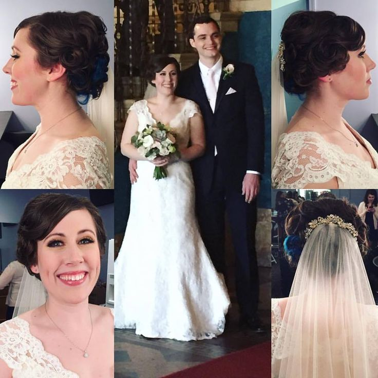 Manda Kay here! I created a dreamy, romantic texture and pin curls for this stunning bride! Erica looked like she stepped off the pages of a bridal magazine and I would be lying if I said I didn't cry when she put on her dress! I was so touched to do hair for you and your girls on your big day! Congratulations. 👰💕