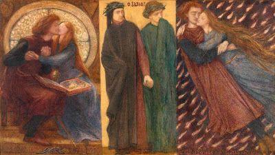 D. G. Rosetti, Πάολο και Φραντσέσκα του Ρίμινι. 1855. Βρίσκεται στην Πινακοθήκη Tate Britain του Λονδίνου.