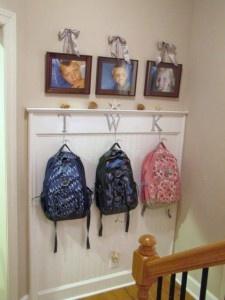 How cute!Backpacks, Mudroom, Back Doors, Organizations, Cute Ideas, Organic Solutions, Mud Rooms, Front Doors, Kids