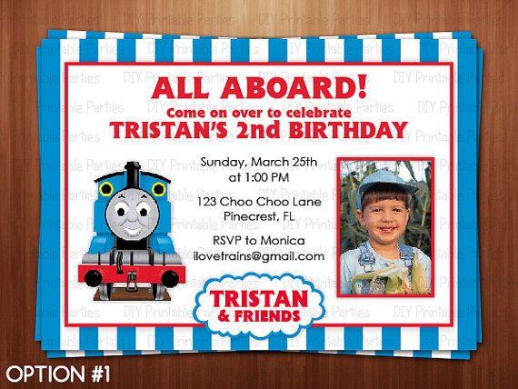 Best 27 thomas the train 3rd birthday images on pinterest 3 years get thomas the train photo birthday invitations filmwisefo