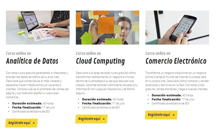 Cursos de formación en Actívate:  Internet Site,  Website, Web Site