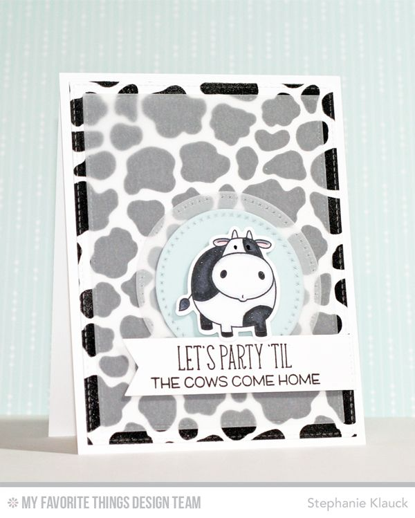 The Whole Herd, Cow Print Background, Cross-Stitch Circle STAX Die-namics, The Whole Herd Die-namics - Stephanie Klauck  #mftstamps