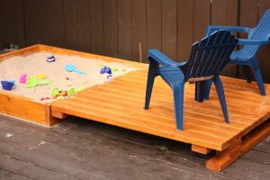 DIY Wooden Sandbox -The Motherboards via Small + Friendly