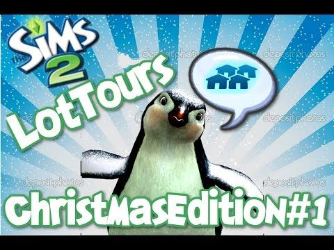The Sims 2 Lot Tours- Christmas Edition #1!