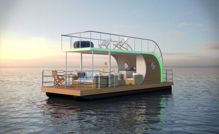 nautilus houseboat offers modern lifestyle and luxury living on water design. Black Bedroom Furniture Sets. Home Design Ideas