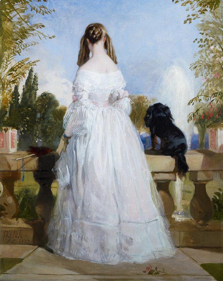 Sir Edwin Landseer (1803-73) - Princess Victoire of Saxe-Coburg-Gotha (1822-57)