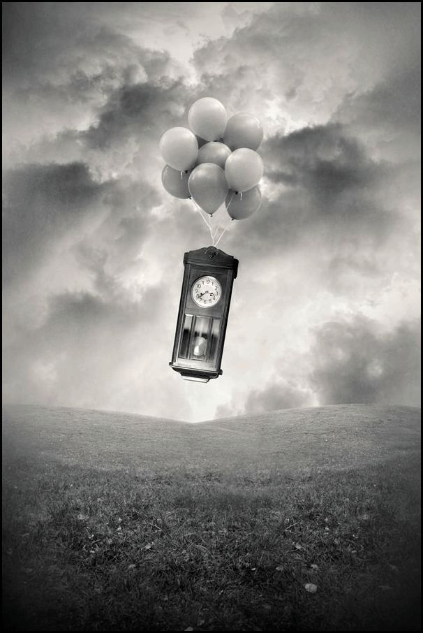 ♂ black and white art Dream imagination surrealism  Tommy Ingberg rise to the sky