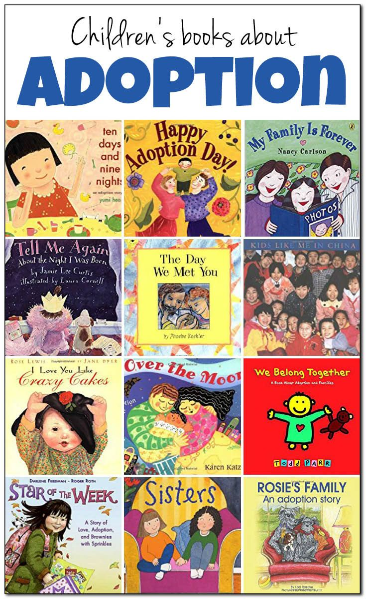 20+ books about adoption to share with children (both those who are adopted and those who are not adopted). Books about infant adoption and older child adoption, domestic adoption and international adoption From @giftofcuriosity #ReadYourWorld #KidLit