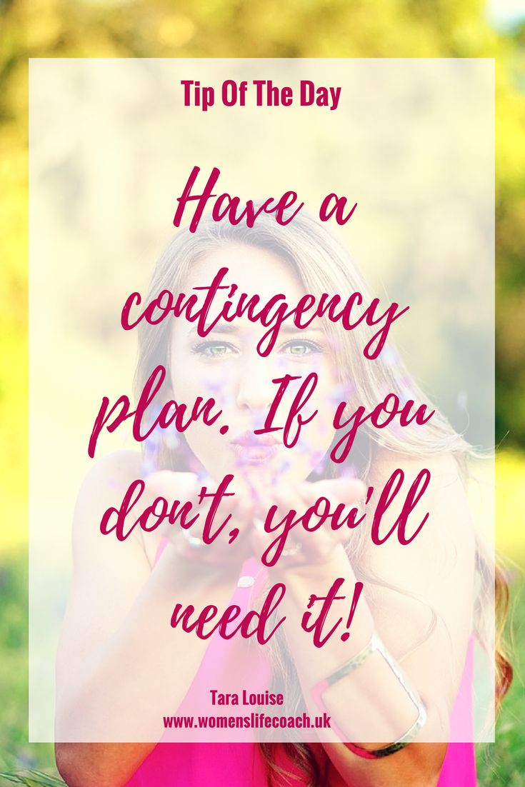 Mumpreneurs need contingency plans! When you're a mum in business, you need to be prepared for things going wrong. Sod's law says you won't need it but you can bet you will if you don't have one!