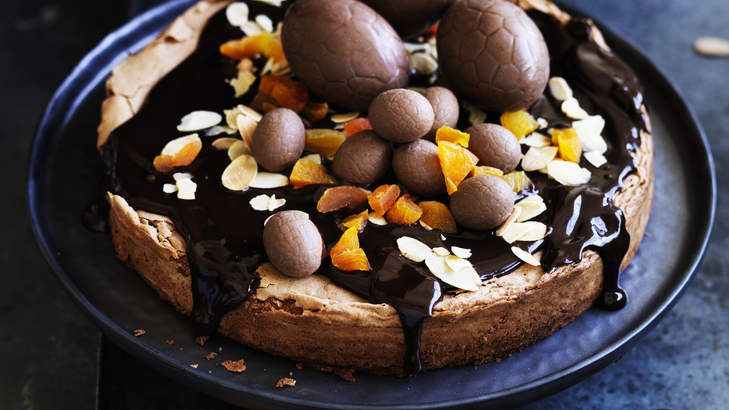 Old and new: Adam Liaw's chocolate and almond Easter cake is inspired by a Spanish tradition.