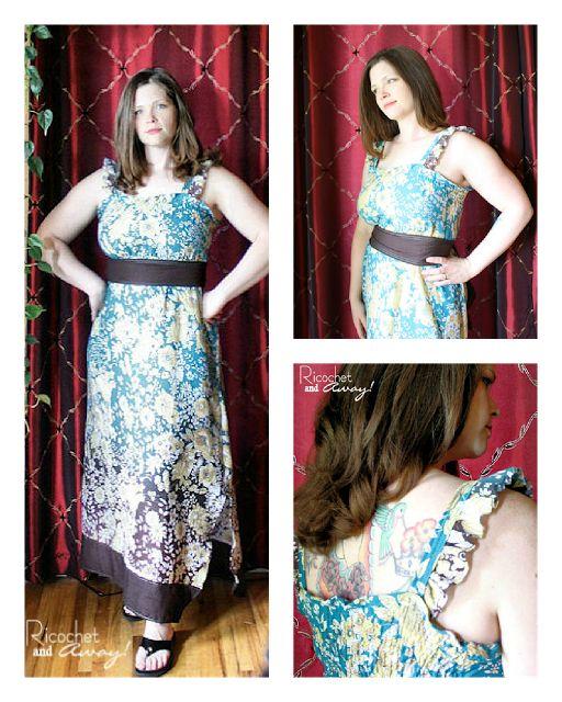 Shirred Maxi Dress Sewing Tutorial