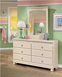 Ashley Furniture Signature Design – Cottage Retreat Dresser – 6 Drawers – Casual Styling – Cream Cottage