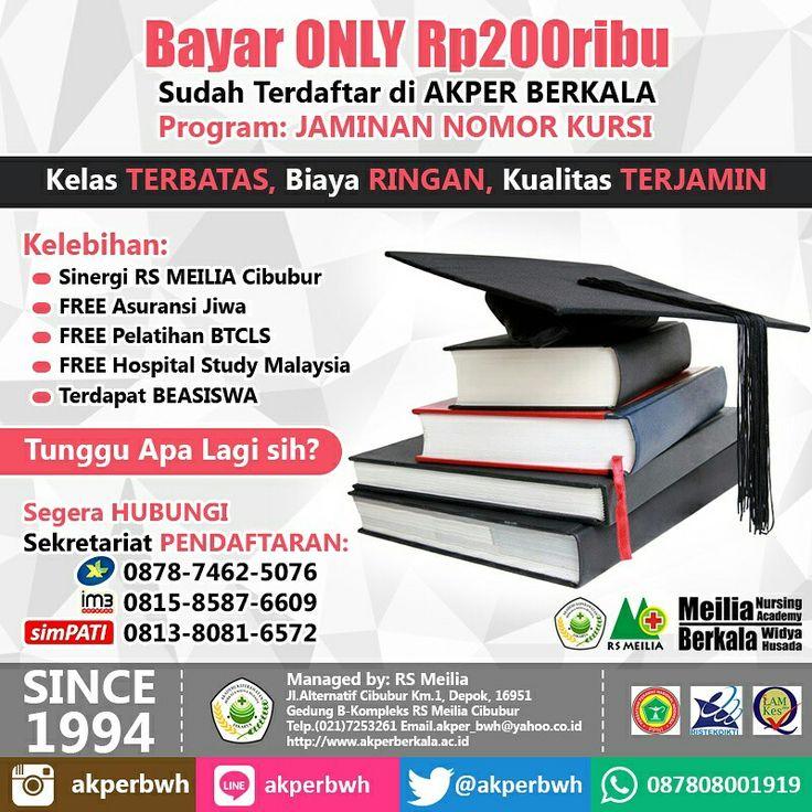 Daftar yuk di AKPER BERKALA • • #akper #akademi #keperawatan #akperberkala #cibubur #depok #cileungsi #bekasi #bogor #tangerang #jakarta #indonesia #mahasiswa #kampus #kuliah #perawat #nakes #nurse #profesi