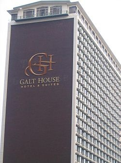 """Galt House in Louisville, Kentucky.  Original was meeting place during the Civil War for Generals US Grant and Wm Tecumseh Sherman in planning """"March to the Sea""""."""