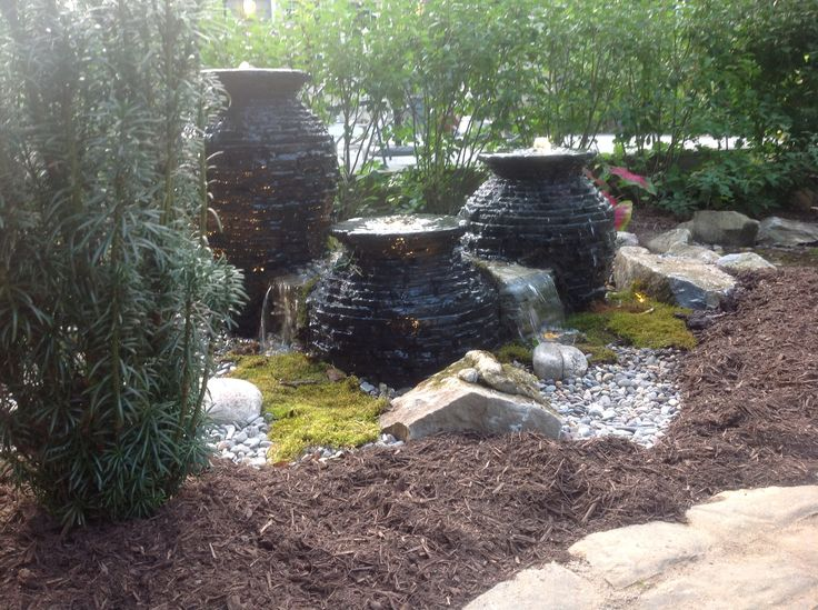 Stacked Slate Urn FountainScape.  http://afrogsdream.com/fountainscapes/