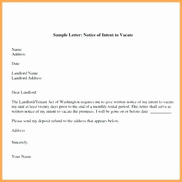 Sample Letter To Landlord For Moving Out Inspirational Sample Letter To Vacate Apartment To Tenant Nice Apartement Being A Landlord Lettering Moving Out