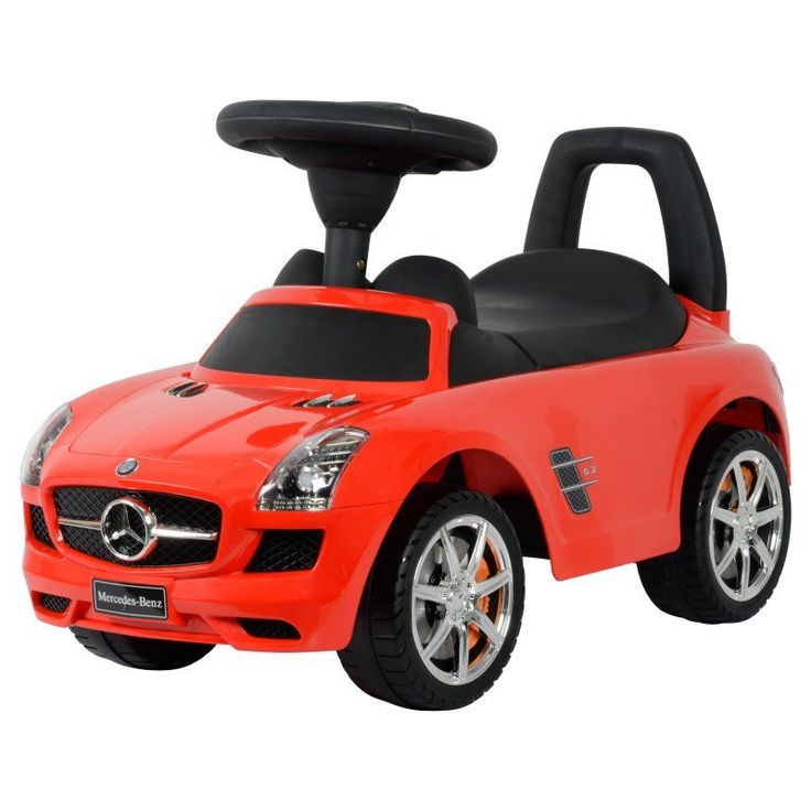 Best Ride On Cars Mercedes Benz Car Riding Push Toy Red - MERCED PUSH CAR RED
